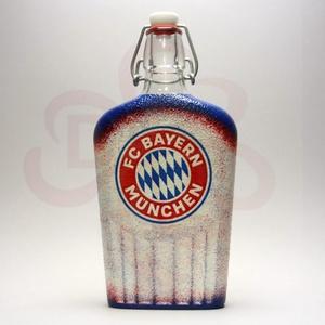 BAYERN MÜNCHEN pálinkás csatosüveg ; futball szurkolóknak, Otthon & Lakás, Dekoráció, Díszüveg, Decoupage, transzfer és szalvétatechnika, BAYERN MÜNCHEN pálinkás csatosüveg ( 0,5l ) \n\nIgazán egyedi Bayern München szurkolói ajándék, férjne..., Meska