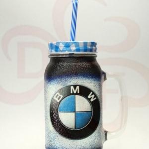BMW üdítős pohár ; BMW rajongóknak - Meska.hu