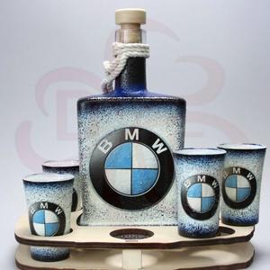 BMW pálinkás készlet ; Saját BMW autód fotójával is!  - Meska.hu