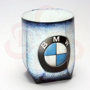 BMW whiskys pohár ; Saját BMW autód fotójával is! , Otthon & Lakás, Konyhafelszerelés, Pohár, Decoupage, transzfer és szalvétatechnika, BMW whiskys pohár ( 0,2l ) \n\nIgazán egyedi BMW ajándék, férfiaknak születésnapra, névnapra, karácson..., Meska