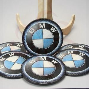 BMW poháralátét ; A saját BMW autód fotójával is! , Otthon & Lakás, Konyhafelszerelés, Pohár, Decoupage, transzfer és szalvétatechnika, BMW emblémával díszített 6db-os poháralátét \n\nIgazán egyedi BMW ajándék, férfiaknak születésnapra, n..., Meska