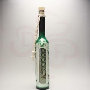FTC adventi pálinkásüveg ; FTC szurkolóknak, Otthon & Lakás, Konyhafelszerelés, Üveg & Kancsó, Decoupage, transzfer és szalvétatechnika, Meska
