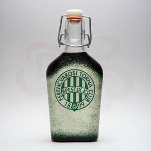 FTC pálinkás csatos üveg ; FTC foci szurkolóknak, Otthon & Lakás, Konyhafelszerelés, Üveg & Kancsó, Decoupage, transzfer és szalvétatechnika, Meska