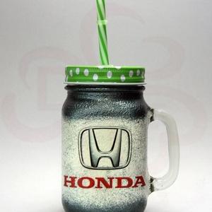 HONDA bögre ; Saját Honda autód fotójával is , Otthon & Lakás, Konyhafelszerelés, Bögre & Csésze, Decoupage, transzfer és szalvétatechnika, Meska