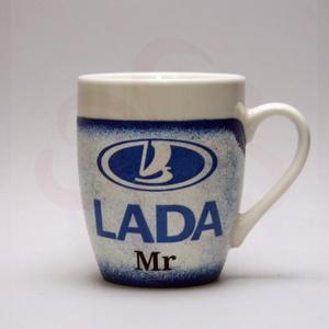 LADA ( ZSIGULI ) kávés csésze ; Lada autó kedvelőknek, Otthon & Lakás, Konyhafelszerelés, Bögre & Csésze, Decoupage, transzfer és szalvétatechnika, Meska