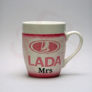 LADA ( ZSIGULI ) kávés csésze ; Lada autó rajongóknak, Otthon & Lakás, Konyhafelszerelés, Bögre & Csésze, Decoupage, transzfer és szalvétatechnika, Meska