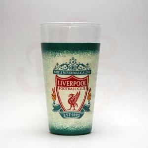 LIVERPOOL üdítős pohár ; Liverpool szurkoló fiúknak, férfiaknak, nőknek, Otthon & Lakás, Konyhafelszerelés, Pohár, Decoupage, transzfer és szalvétatechnika, Meska