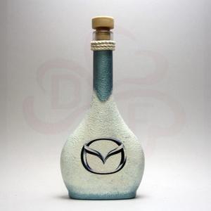 MAZDA italos üveg ; Mazda autó rajongóknak, Otthon & Lakás, Dekoráció, Díszüveg, Decoupage, transzfer és szalvétatechnika, MAZDA italos üveg ( 0,2l ) \n\nIgazán egyedi Mazda ajándék, férjnek, barátnak születésnapra, névnapra,..., Meska