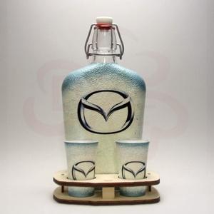 MAZDA italos készlet ; Mazda autó rajongóknak, Otthon & Lakás, Dekoráció, Díszüveg, Decoupage, transzfer és szalvétatechnika, Meska