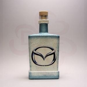 MAZDA italos üveg ; Mazda autó rajongóknak, Otthon & Lakás, Dekoráció, Díszüveg, Decoupage, transzfer és szalvétatechnika, MAZDA italos üveg ( 0,5l )\n\nIgazán egyedi Mazda ajándék, férjnek, barátnak születésnapra, névnapra, ..., Meska