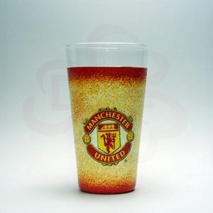 Manchester United vizes pohár; futball szurkolóknak, Otthon & Lakás, Konyhafelszerelés, Pohár, Decoupage, transzfer és szalvétatechnika, Meska