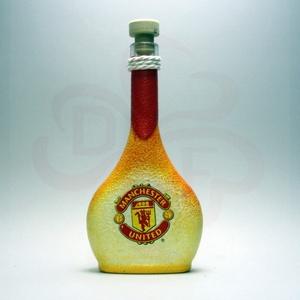 Manchester United pálinkás üveg ; futball szurkolóknak, születésnapra, névnapra, karácsonyra, Otthon & Lakás, Dekoráció, Díszüveg, Decoupage, transzfer és szalvétatechnika, Meska