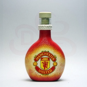 Manchester United italos üveg ; futball szurkolóknak, születésnapra, névnapra, karácsonyra, Otthon & Lakás, Dekoráció, Díszüveg, Decoupage, transzfer és szalvétatechnika, Meska