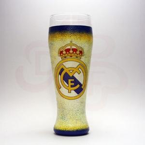 Real Madrid sörös pohár ; foci szurkolóknak, Otthon & Lakás, Konyhafelszerelés, Pohár, Decoupage, transzfer és szalvétatechnika, Meska