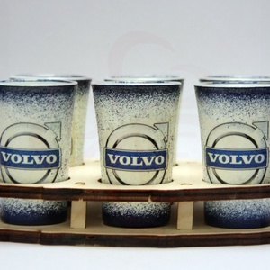 VOLVO pohár készlet ; Volvo autód fényképével is! Ajándék szülinapra, névnapra, karácsonyra, Otthon & Lakás, Konyhafelszerelés, Pohár, Decoupage, transzfer és szalvétatechnika, Meska