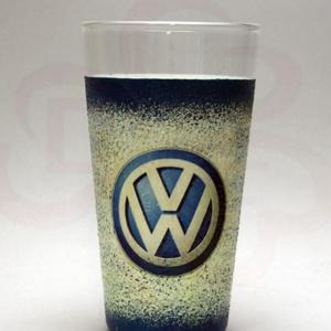 VOLKSWAGEN üdítős pohár ; Volkswagen autód fényképével is!, Otthon & Lakás, Konyhafelszerelés, Pohár, VOLKSWAGEN üdítős, vizes pohár ( 0,3l )  A saját Volkswagen autód fényképével is!  Ajándék szülinapr..., Meska