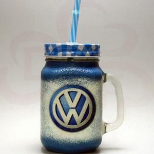 VOLKSWAGEN üdítős pohár ; Volkswagen autód fényképével is!, Otthon & Lakás, Konyhafelszerelés, Pohár, Decoupage, transzfer és szalvétatechnika, VOLKSWAGEN üdítős, vizes pohár ( 0,3l )\n\nA saját Volkswagen autód fényképével is! \nAjándék szülinapr..., Meska