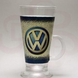 VOLKSWAGEN kávés pohár, kávé imádóknak ; Saját Volkswagen autód fényképével is!, Otthon & Lakás, Konyhafelszerelés, Pohár, Decoupage, transzfer és szalvétatechnika, VOLKSWAGEN kávés, Latte-s pohár - kávé imádóknak ( 0,26l )\n\nA saját Volkswagen autód fényképével is!..., Meska
