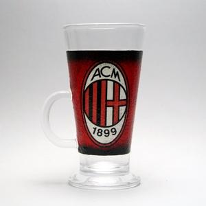 AC MILAN kávés, Latte-s pohár - kávé imádóknak, Otthon & Lakás, Konyhafelszerelés, Pohár, Decoupage, transzfer és szalvétatechnika, Meska