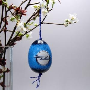 OPEL húsvéti tojás ; Ajándék OPEL rajongók részére, Otthon & Lakás, Dekoráció, Dísztárgy, Decoupage, transzfer és szalvétatechnika, Meska