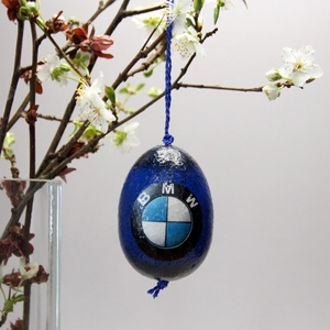 BMW húsvéti tojás ; Ajándék BMW rajongók részére, Otthon & Lakás, Dekoráció, Dísztárgy, Decoupage, transzfer és szalvétatechnika, Meska