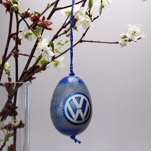 Volkswagen húsvéti tojás ; Ajándék Volkswagen rajongók részére, Otthon & Lakás, Dekoráció, Dísztárgy, Decoupage, transzfer és szalvétatechnika, Volkswagen húsvéti tojás ; Ajándék Volkswagen rajongók részére, hungarocell 7 cm\n\nIgazán egyedi húsv..., Meska