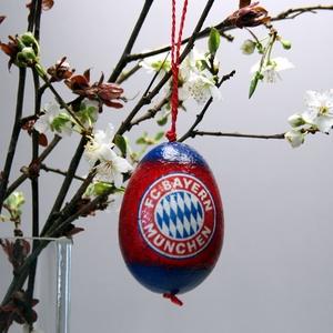 Bayern München húsvéti tojás ; Ajándék Bayern rajongók részére, Otthon & Lakás, Dekoráció, Dísztárgy, Decoupage, transzfer és szalvétatechnika, Meska