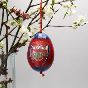 Arsenal húsvéti tojás ; Ajándék Arsenal rajongók részére, Otthon & Lakás, Dekoráció, Dísztárgy, Decoupage, transzfer és szalvétatechnika, Meska