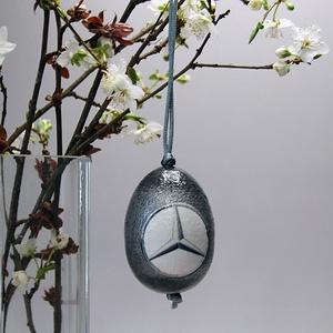 MERCEDES húsvéti tojás ; Ajándék MERCEDES rajongók részére, Otthon & Lakás, Dekoráció, Dísztárgy, Decoupage, transzfer és szalvétatechnika, Meska