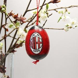 AC Milan húsvéti tojás ; Ajándék AC Milan rajongók részére , Otthon & Lakás, Dekoráció, Dísztárgy, Decoupage, transzfer és szalvétatechnika, Meska