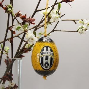 Juventus húsvéti tojás ; Ajándék Juventus rajongók részére, Otthon & Lakás, Dekoráció, Dísztárgy, Decoupage, transzfer és szalvétatechnika, Meska