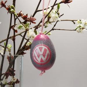 Volkswagen húsvéti tojás ; Ajándék Volkswagen rajongók részére pink, Otthon & Lakás, Dekoráció, Dísztárgy, Decoupage, transzfer és szalvétatechnika, Volkswagen húsvéti tojás ; Ajándék Volkswagen rajongók részére, hungarocell 7 cm\n\nIgazán egyedi húsv..., Meska
