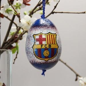 FC Barcelona húsvéti tojás ; Ajándék FC Barcelona rajongók részére világos, Otthon & Lakás, Dekoráció, Dísztárgy, Decoupage, transzfer és szalvétatechnika, Meska