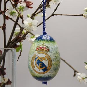 Real Madrid húsvéti tojás ; Ajándék Real Madrid rajongók részére világos, Otthon & Lakás, Dekoráció, Dísztárgy, Decoupage, transzfer és szalvétatechnika, Meska