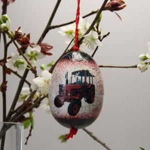 MTZ húsvéti tojás ; Ajándék MTZ rajongók részére, Otthon & Lakás, Dekoráció, Dísztárgy, Decoupage, transzfer és szalvétatechnika, Meska
