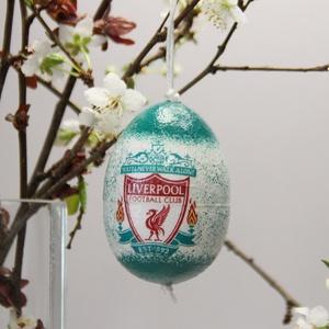Liverpool húsvéti tojás ; Ajándék Liverpool rajongók részére, Otthon & Lakás, Dekoráció, Dísztárgy, Decoupage, transzfer és szalvétatechnika, Meska