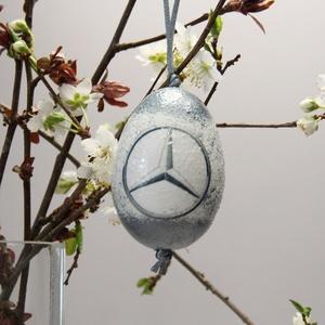 MERCEDES húsvéti tojás ; Ajándék MERCEDES rajongók részére világos, Otthon & Lakás, Dekoráció, Dísztárgy, Decoupage, transzfer és szalvétatechnika, Meska