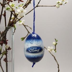FORD húsvéti tojás ; Ajándék FORD rajongók részére világos, Otthon & Lakás, Dekoráció, Dísztárgy, Decoupage, transzfer és szalvétatechnika, Meska