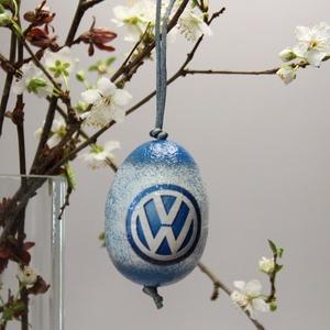 Volkswagen húsvéti tojás ; Ajándék Volkswagen rajongók részére világos, Otthon & Lakás, Dekoráció, Dísztárgy, Decoupage, transzfer és szalvétatechnika, Volkswagen húsvéti tojás ; Ajándék Volkswagen rajongók részére, hungarocell 7 cm\n\nIgazán egyedi húsv..., Meska