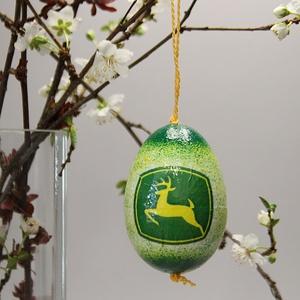John Deere húsvéti tojás ; Ajándék John Deere rajongók részére világos, Otthon & Lakás, Dekoráció, Dísztárgy, John Deere húsvéti tojás ; Ajándék John Deere rajongók részére, hungarocell 7 cm  Igazán egyedi húsv..., Meska