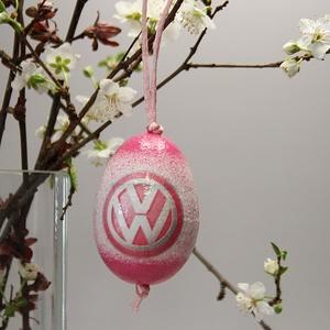 Volkswagen húsvéti tojás ; Ajándék tojás Volkswagen rajongók részére világos pink, Otthon & Lakás, Dekoráció, Dísztárgy, Decoupage, transzfer és szalvétatechnika, Meska