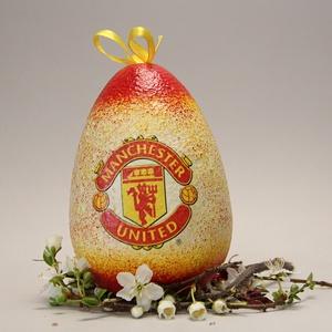 Manchester United húsvéti tojás ; Ajándék tojás húsvétra Manchester United rajongók részére, Otthon & Lakás, Dekoráció, Dísztárgy, Decoupage, transzfer és szalvétatechnika, Meska