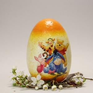 Mese húsvéti tojás ; Ajándék tojás húsvétra Micimakó és barátai, Otthon & Lakás, Dekoráció, Dísztárgy, Decoupage, transzfer és szalvétatechnika, Meska