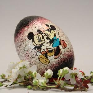 Húsvéti tojás gyerekeknek ; Ajándék tojás húsvétra Mickey egér, Otthon & Lakás, Dekoráció, Dísztárgy, Decoupage, transzfer és szalvétatechnika, Meska