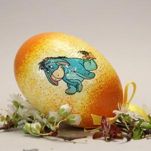 Mese húsvéti tojás ; Ajándék tojás húsvétra Micimakó és barátai 3, Otthon & Lakás, Dekoráció, Dísztárgy, Decoupage, transzfer és szalvétatechnika, Meska