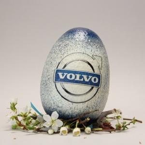VOLVO húsvéti tojás ; Ajándék tojás VOLVO rajongók részére világos, Otthon & Lakás, Dekoráció, Dísztárgy, Decoupage, transzfer és szalvétatechnika, Meska