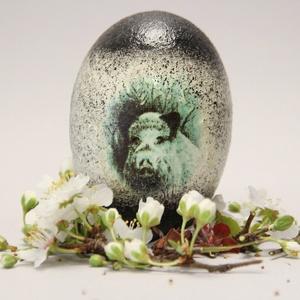 Húsvéti tojás Vadászoknak ; Ajándék tojás húsvétra vaddiszó motívummal, Otthon & Lakás, Dekoráció, Dísztárgy, Decoupage, transzfer és szalvétatechnika, Meska