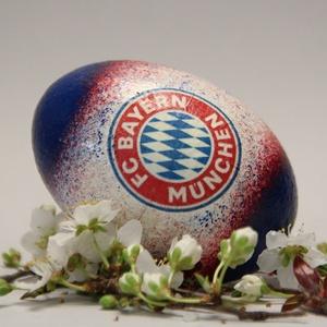 Bayern München húsvéti tojás ; Ajándék Bayern rajongók részére világos, Otthon & Lakás, Dekoráció, Dísztárgy, Decoupage, transzfer és szalvétatechnika, Meska