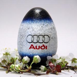 AUDI húsvéti tojás ; Ajándék AUDI rajongók részére , Otthon & Lakás, Dekoráció, Dísztárgy, Decoupage, transzfer és szalvétatechnika, Meska