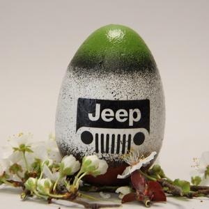 Jeep húsvéti tojás ; Ajándék Jeep rajongók részére , Otthon & Lakás, Dekoráció, Dísztárgy, Decoupage, transzfer és szalvétatechnika, Meska